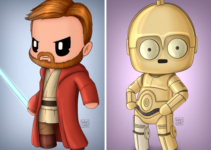 My Husband Recreated 16 Star Wars Characters As Chibis, And The Result Is Adorable