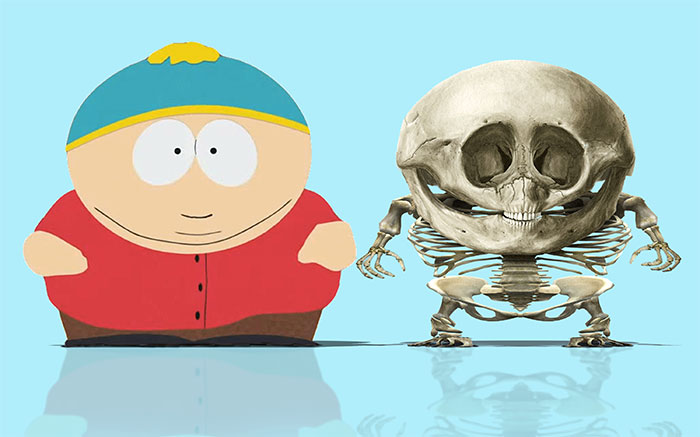 """Artist Shows What Anatomically """"Correct"""" Skeletons Of Popular Cartoon Characters Would Look Like (11 Pics)"""