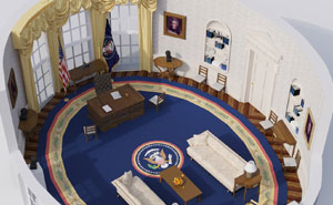 Digital Artists Recreated The Evolution Of The Oval Office Through The Past 100 Years