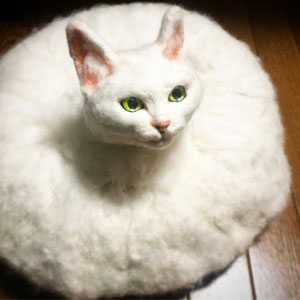 Japanese Artist Combines Felting And Technology To Create Bizarre Cats (26 Pics)