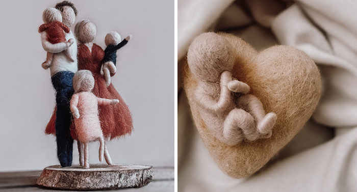 I've Been Creating Heartwarming Wool Families For A Year (40 Pics)