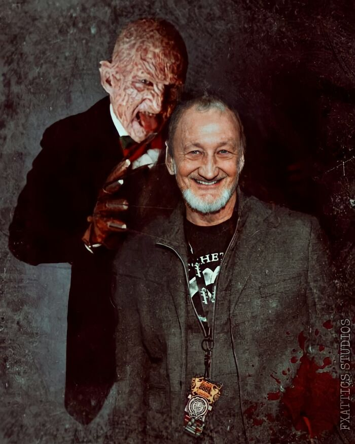 "Freddy Krueger And Robert Englund From ""A Nightmare On Elm Street"""