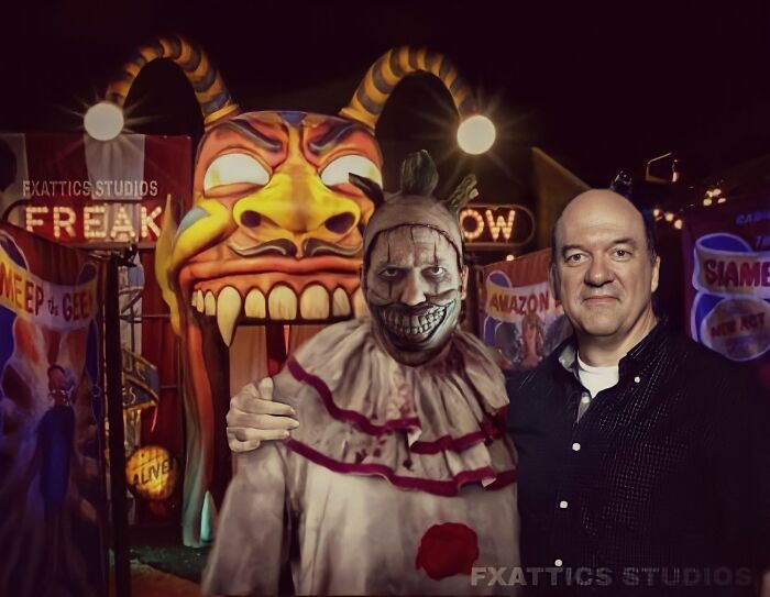 "Twisty The Clown And John Carroll Lynch From ""American Horror Story"""