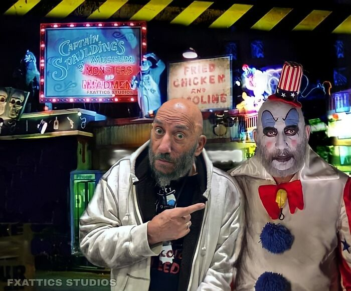 "Captain Spaulding And Sid Haig From ""House Of 1000 Corpses"""