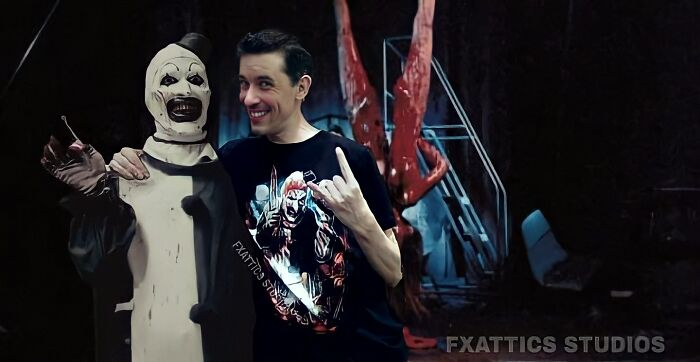 "Clown And David Howard Thornton From The Film ""Terrifier"""