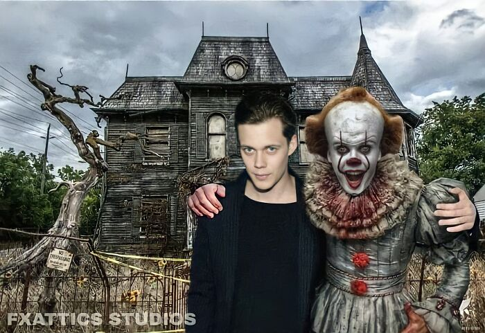 "Pennywise And Bill Skarsgård From ""It"""