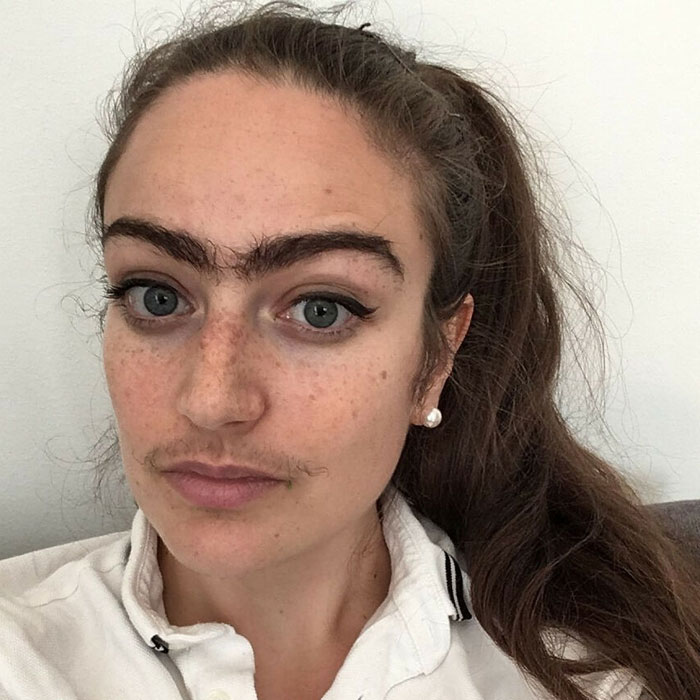 Woman Refuses To Shave Moustache Or Unibrow And Instead Embraces It