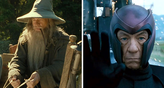 25 Side-By-Side Pics Of Movie Villains And Heroes That Were Played By The Same Actors