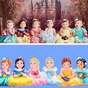 Inspired By A Newborn Photoshoot, This Artist Imagined How Disney Princesses And Villains Looked As Babies