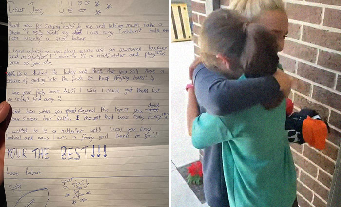 Girl's Idol Visits Her Instead Of Answering Her Heartwarming Letter