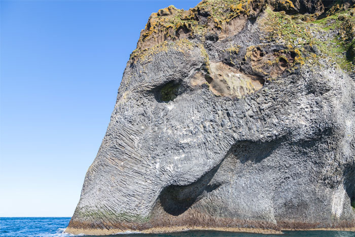 There Is A Giant Rock In A Shape Of An Elephant's Head