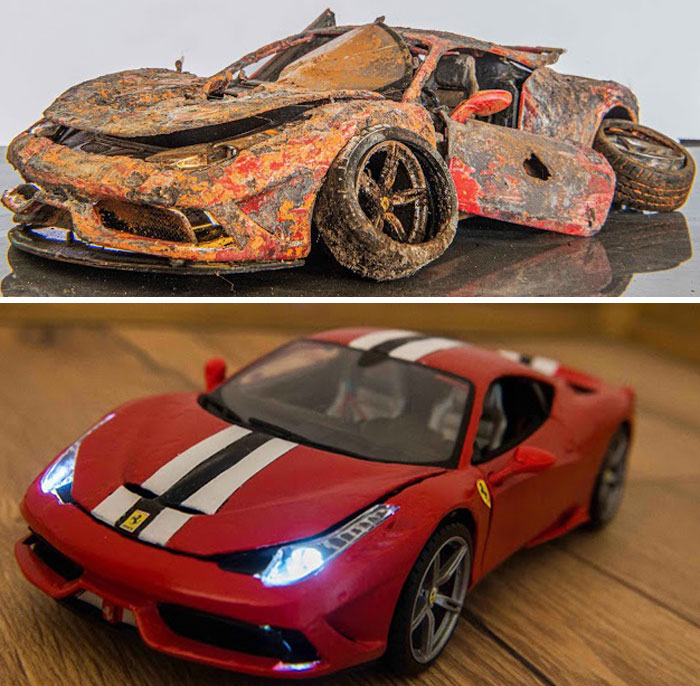 Artist Fully Restores Rusty And Abandoned Car Models, And Here Are His Best 17 Works