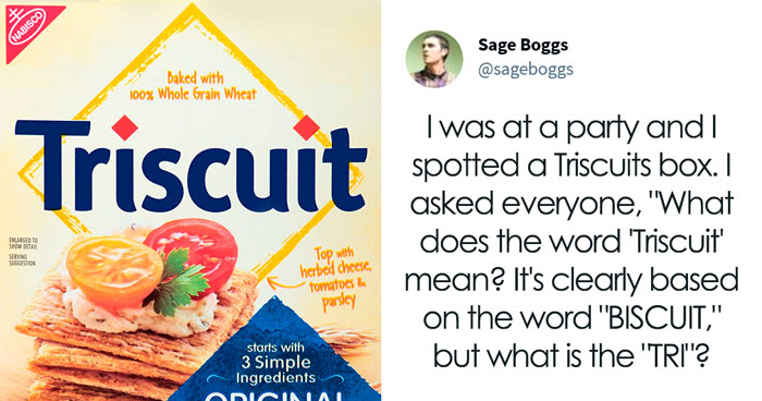 """Cracker Brand """"Triscuit"""" Rewarded Man For Explaining The Real Meaning Of Its Name"""