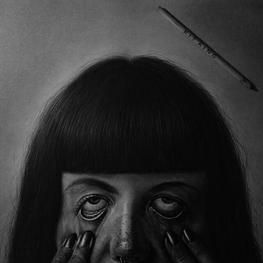 'perfectly Weird' finished Drawing Of The Wonderful @yoursistersun graphite & Charcoal On Canson Illustration Paper. made Some Videos On How I Drew The Hair. Just Need To Figure Out How To Piece Them Together And Upload To Youtube 😅