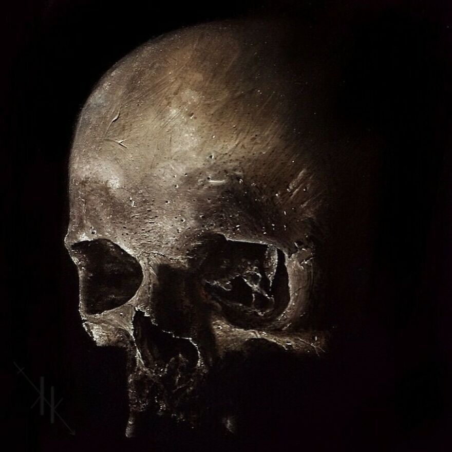 Oil On Wood Panel 💀🎨✌️