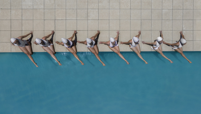I Captured The Beauty Of Synchronised Swimming From The Air