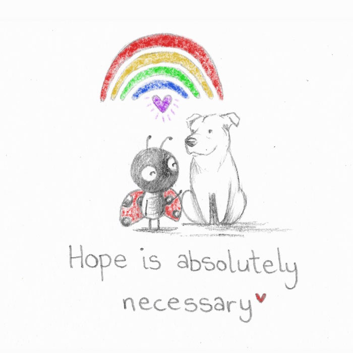 I Made 25 Drawings Of A Ladybug And A Dog And They Share Motivational Quotes About Life