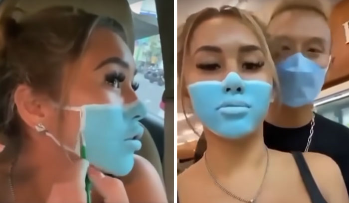 Influencer Ignores Bali's Mandatory Mask Rule By Painting It On Her Face With Makeup And Gets Deported