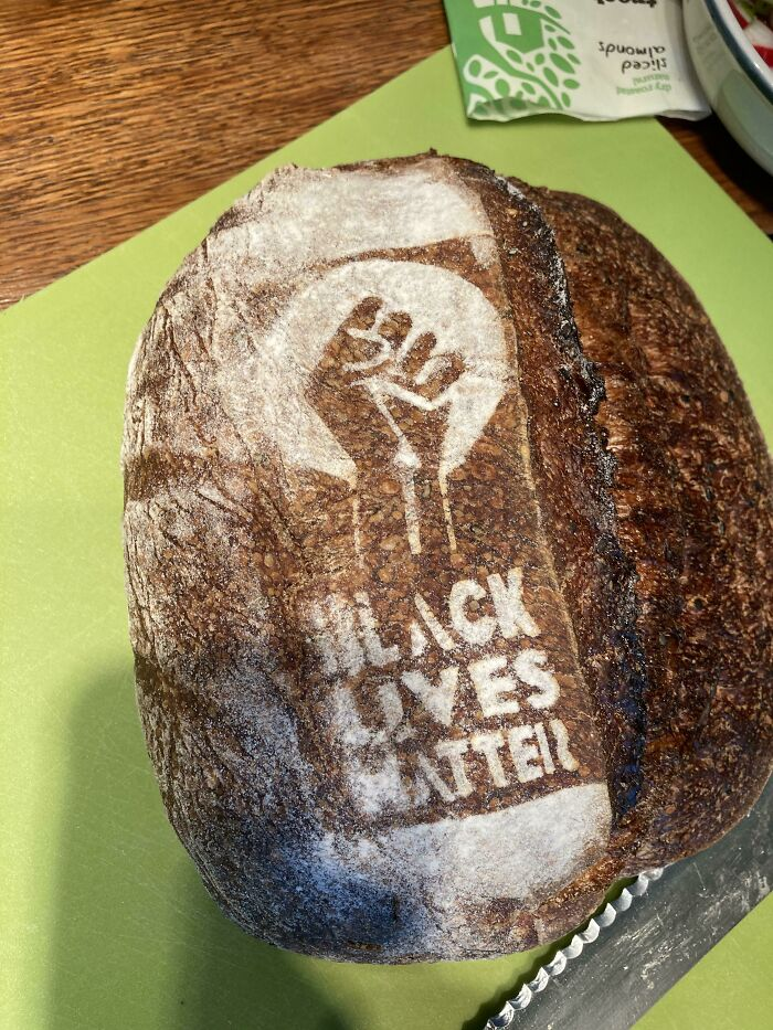 My Local Bakery Has Started Putting BLM On Their Bread