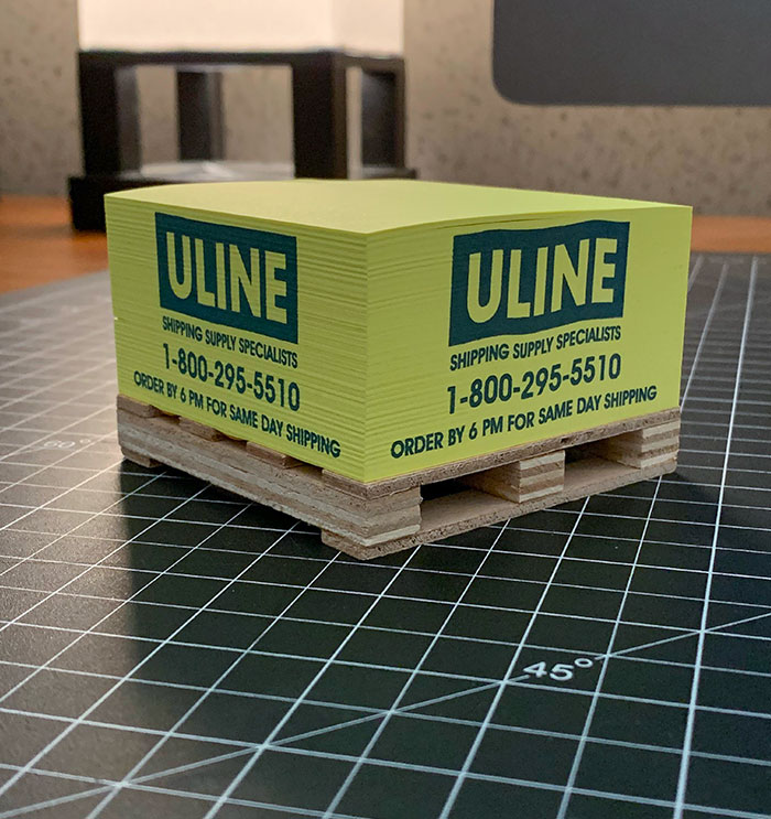 My Desk Notes Are On A Tiny Shipping Pallet