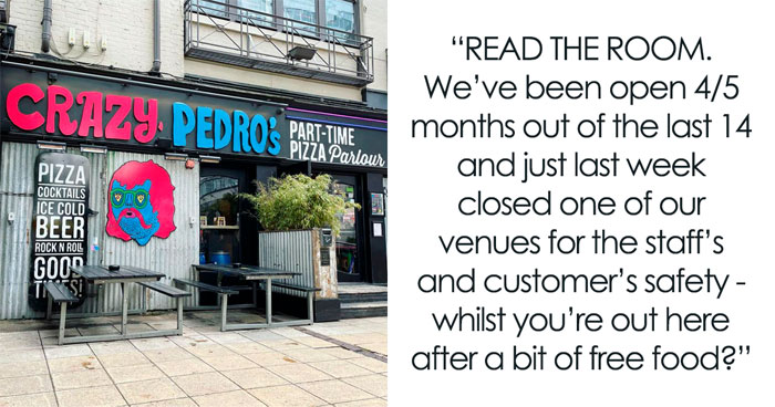 Pizza Bar In Manchester Is Trying To Get Back On Their Feet After Being Closed For Most Of The Year And Claps Back At Influencer Looking For A Free Meal