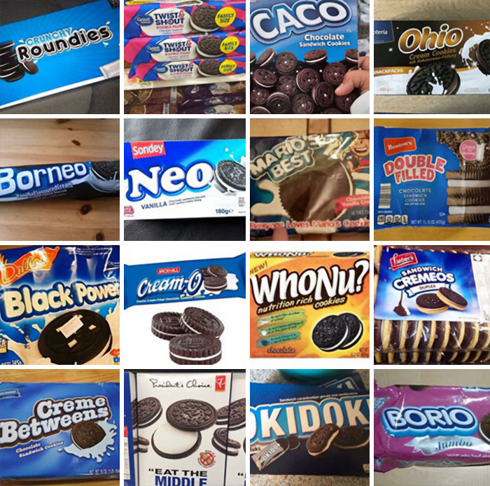 Collection Of Oreo Knockoffs