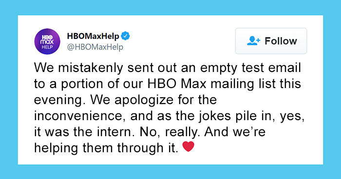People Share Their Biggest Work Fails In An Attempt To Console An HBO Intern Who Made A Mistake