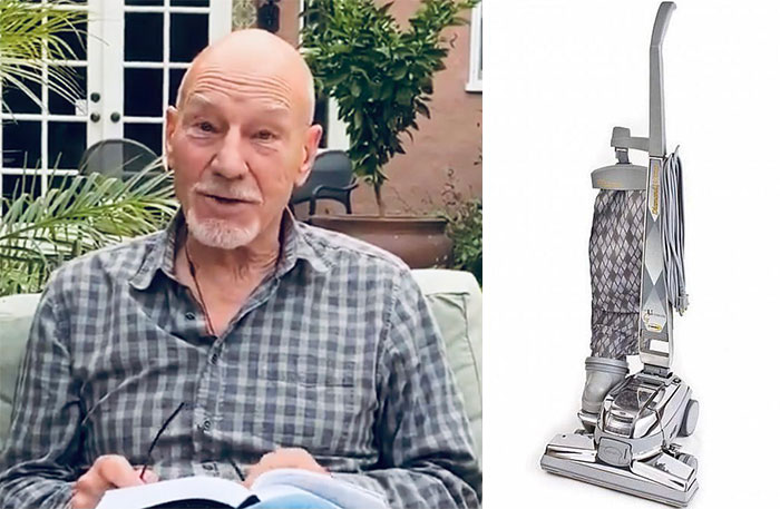 Comedian Compares Sir Patrick Stewart Clothes With Vacuum Cleaners (14 Pics)