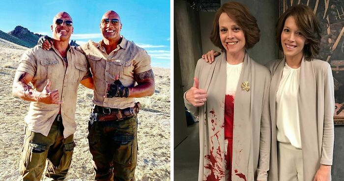 40 Actors With Their Stunt Doubles Who Look Exactly Like Them