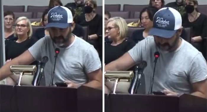 Dad Schools Anti-Mask Parents About What Is And Isn't In The Bible In Powerful Speech