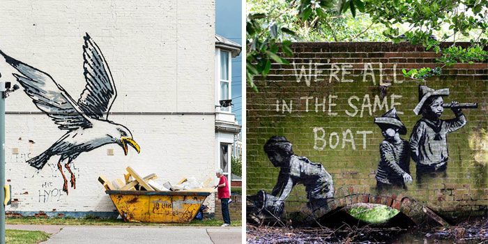 Banksy Comes Back With 9 New Wall Arts In England And People Are Loving Them