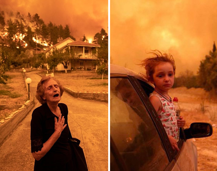 People Share 13 Moments From The Unprecedented Forest Fires In Evia, Greece
