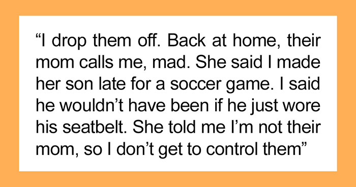 """""""My Husband Thinks I Should Fake An Apology"""": Mom Forces Her 12-Year-Old's Friend To Wear A Seat Belt In Her Car, Ends Up In A Feud With The Friend's Mom"""