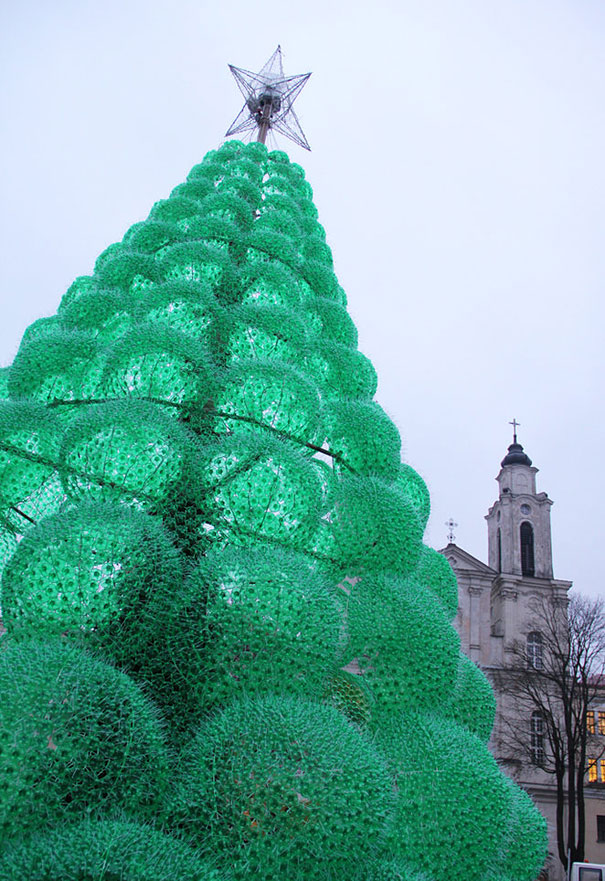 Christmas Tree Made of 32,000 Recycled Bottles