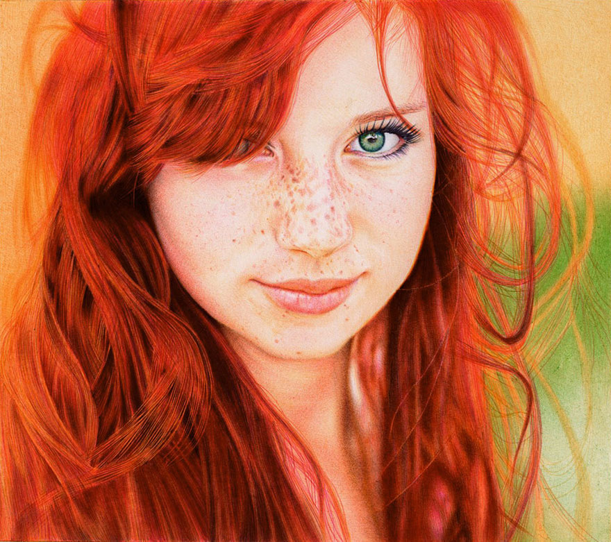 Photorealistic Ballpoint Pen Drawings by 29-Year-Old Lawyer